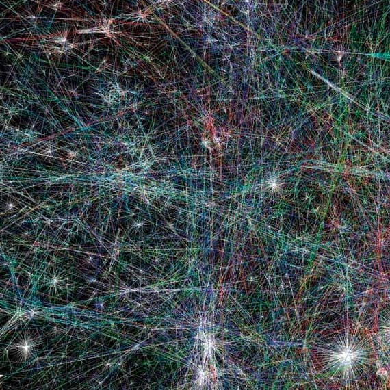 Image of network of information